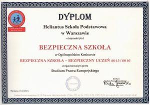 Ogólnopolski Konkurs Bezpieczna Szkoła - Bezpieczny uczeń